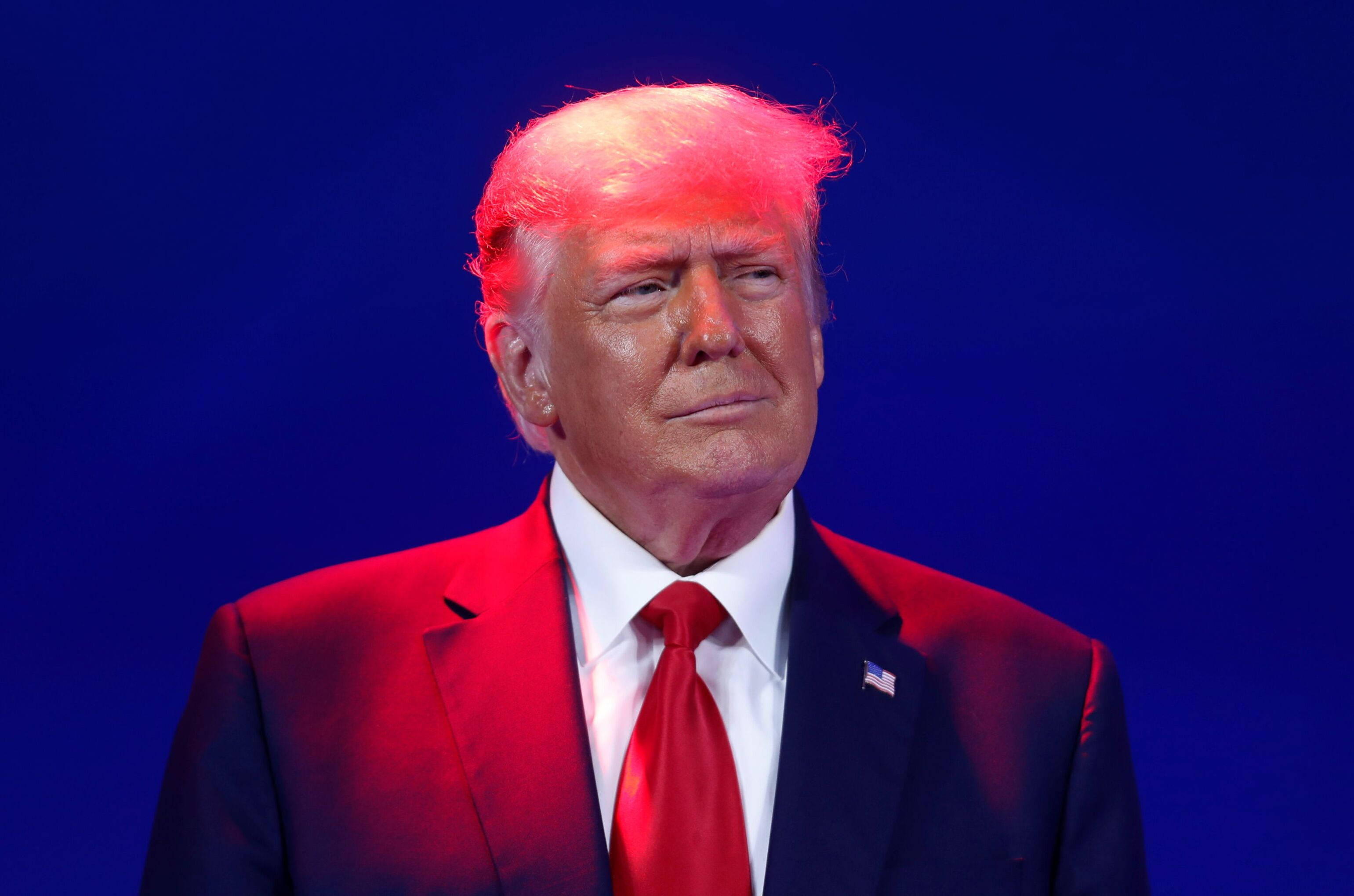 Ex-presidente dos EUA, Donald Trump, discursa durante assembleia de organização conservadora em Orlando, Flórida, 28 de fevereiro de 2021