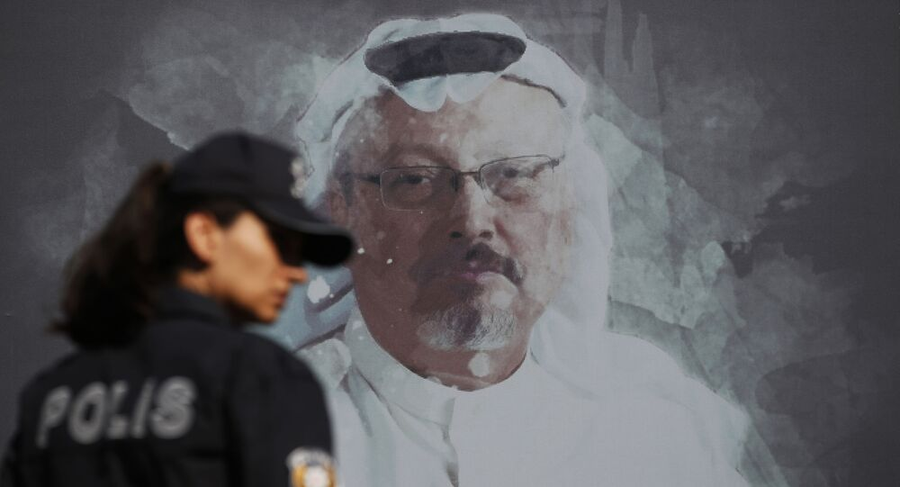 Retrato do jornalista saudita Jamal Khashoggi em Istambul