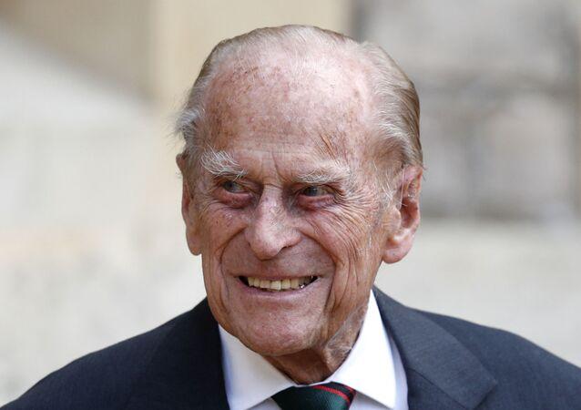 O príncipe Philip da Grã-Bretanha, duque de Edimburgo, aos 99 anos, em foto tirada em 22 de julho de 2020, no Castelo de Windsor