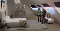 Quarto Luxury Villa no hotel especial Voyager, oferecendo estilo, conforto e experiência sem precedentes