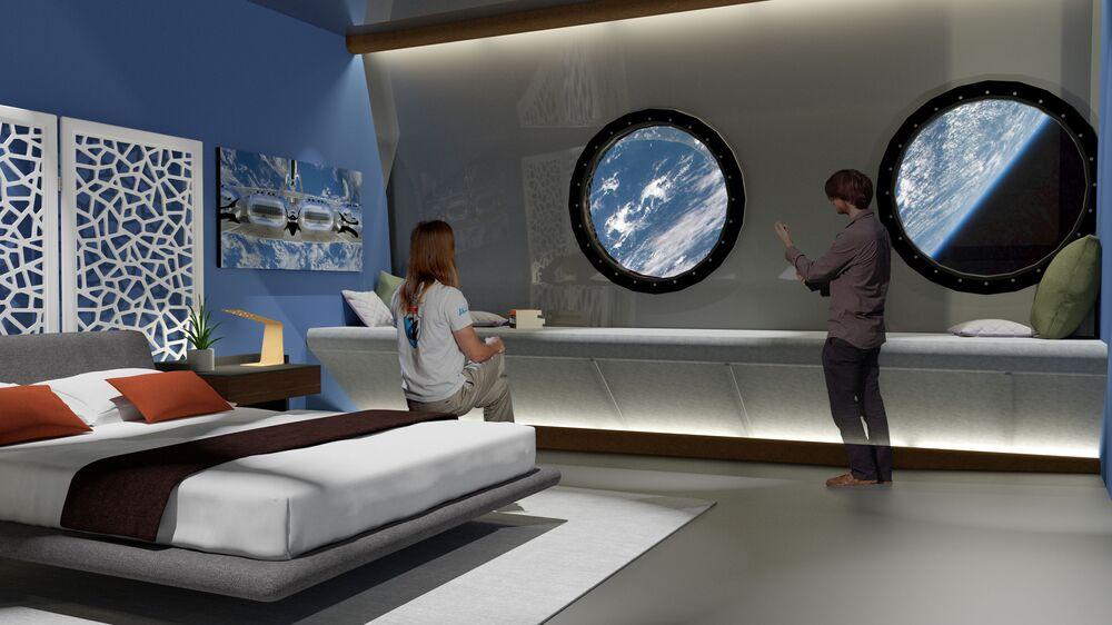 Suíte do hotel espacial Voyager