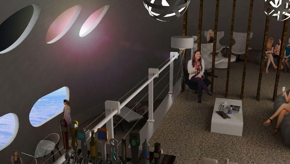 Bar a bordo da Voyager oferecerá uma das melhores vistas da estação