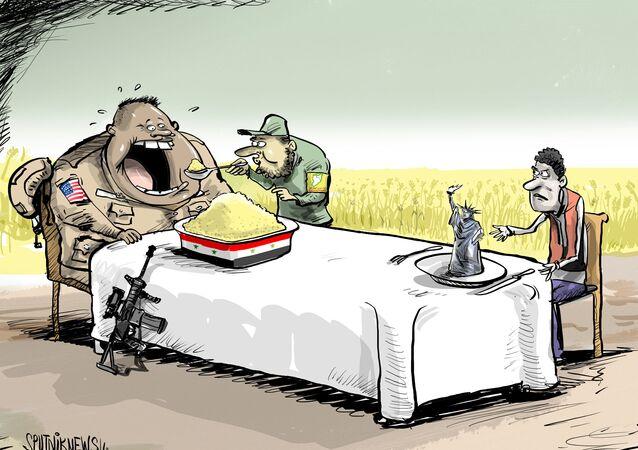EUA roubam comida da Síria