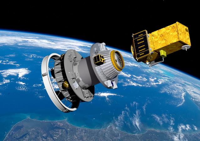 O primeiro satélite totalmente brasileiro, o Amazônia 1, é lançado no espaço (imagem ilustrativa)