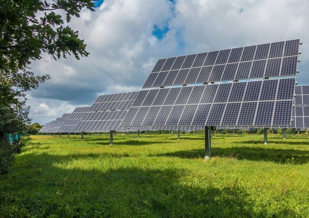 Sistema fotovoltaico para produção de energia solar (imagem ilustrativa)