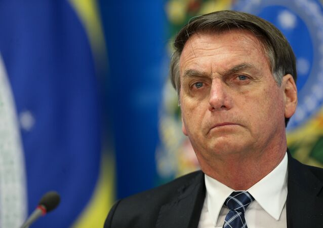 O presidente Jair Bolsonaro durante evento no Palácio do Planalto.