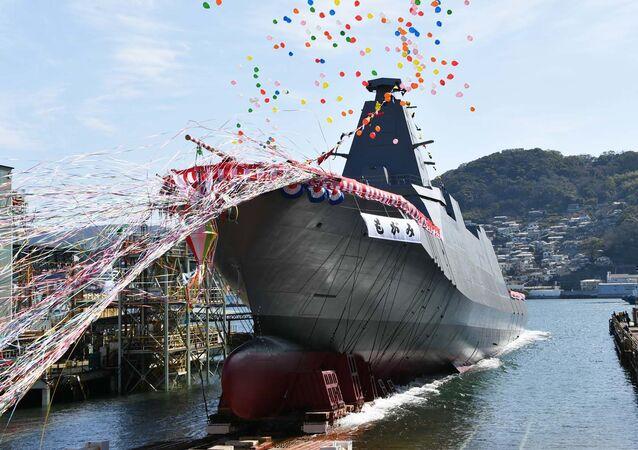 Nova fragata japonesa JS Mogami, Japão, 3 de março de 2021