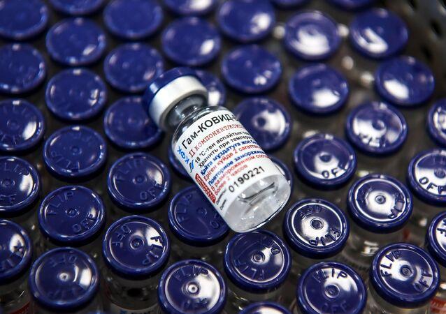 Vacina Sputnik V produzida no Complexo Farmacêutico Karaganda