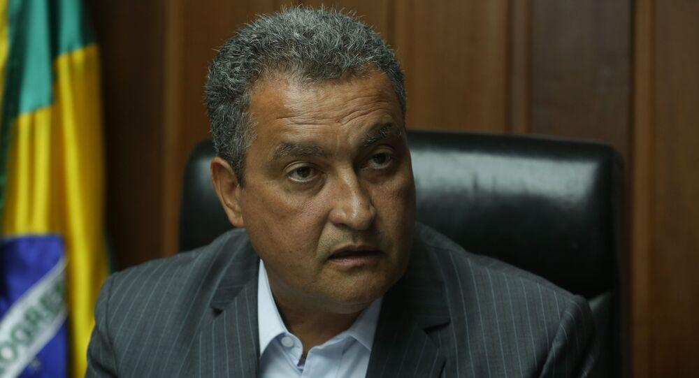 O governador da Bahia, Rui Costa (PT), durante entrevista.