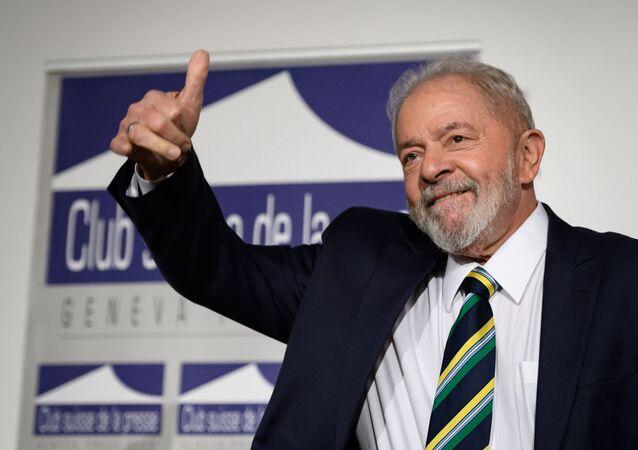 Ex-presidente do Brasil, Luiz Inácio Lula da Silva durante evento em Genebra (foto de arquivo)