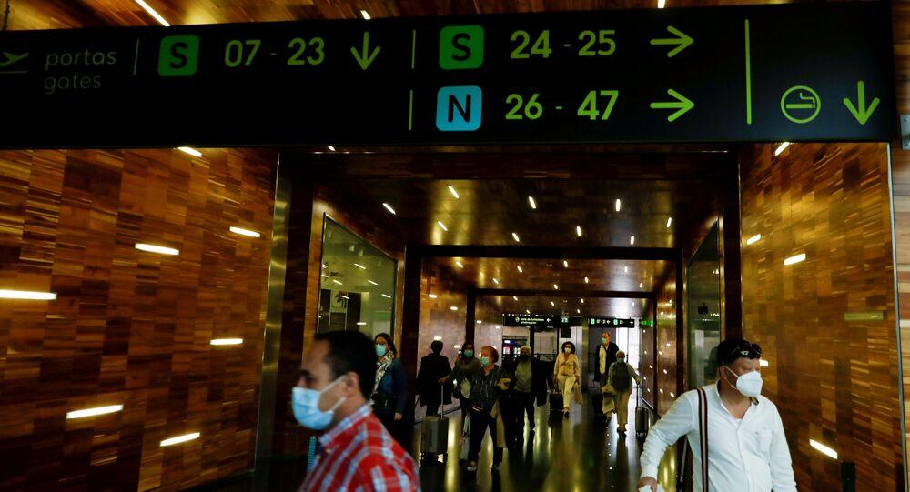 Aeroporto de Lisboa, 15 de junho de 2020 (foto de arquivo)