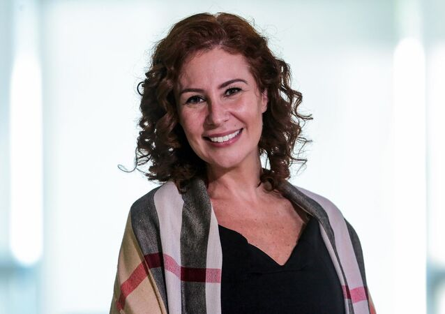 A deputada Carla Zambelli durante lançamento do Programa Adobe 1 Parque, realizado na cidade de Brasília , DF