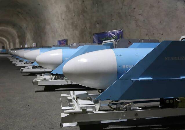 Foto divulgada pela Sepahnews no dia 8 de janeiro de 2021 mostra mísseis durante inauguração de uma nova base militar do Corpo de Guardiões da Revolução Islâmica