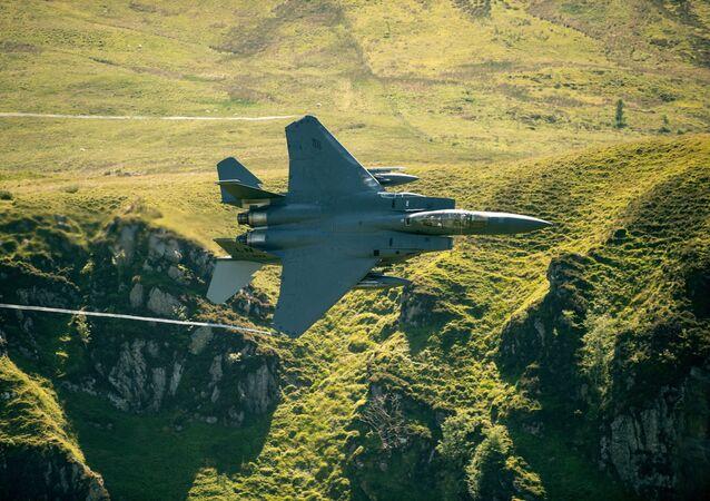 Caça F-15 da Força Aérea dos EUA