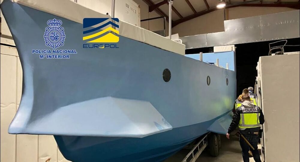 Submarino do narcotráfico apreendido na Espanha