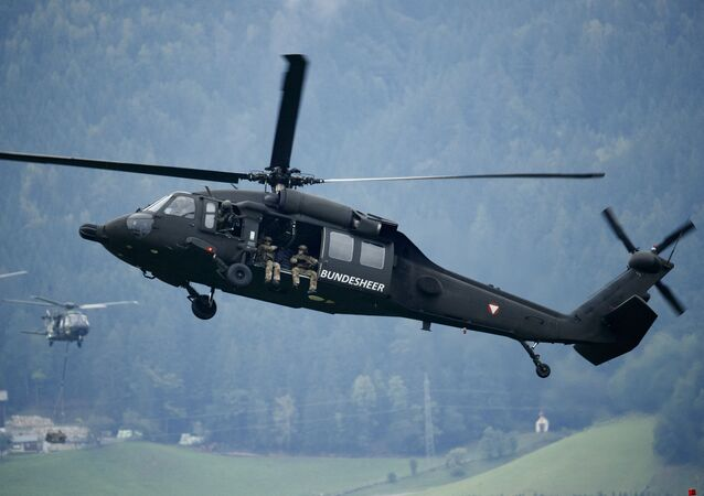 Helicóptero S-70 Black Hawk da Força Aérea austríaca