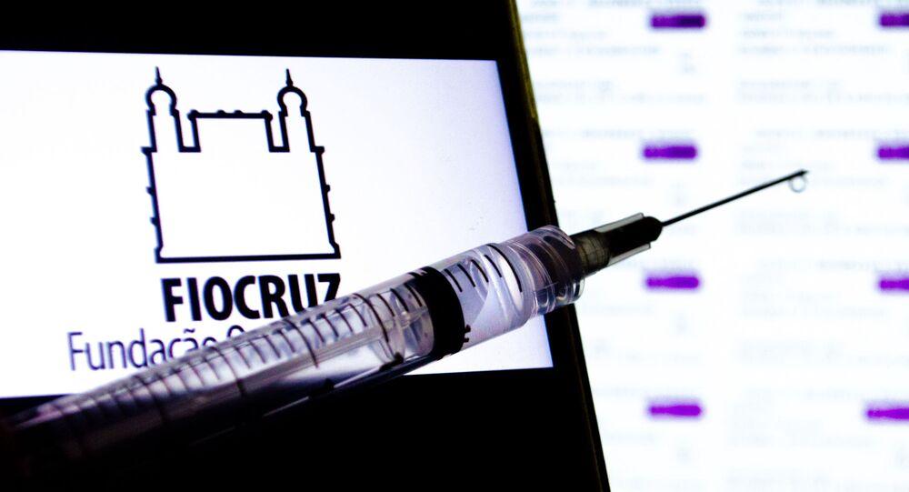 A Fiocruz trabalha na produção de vacinas de Oxford/AstraZeneca contra a COVID-19