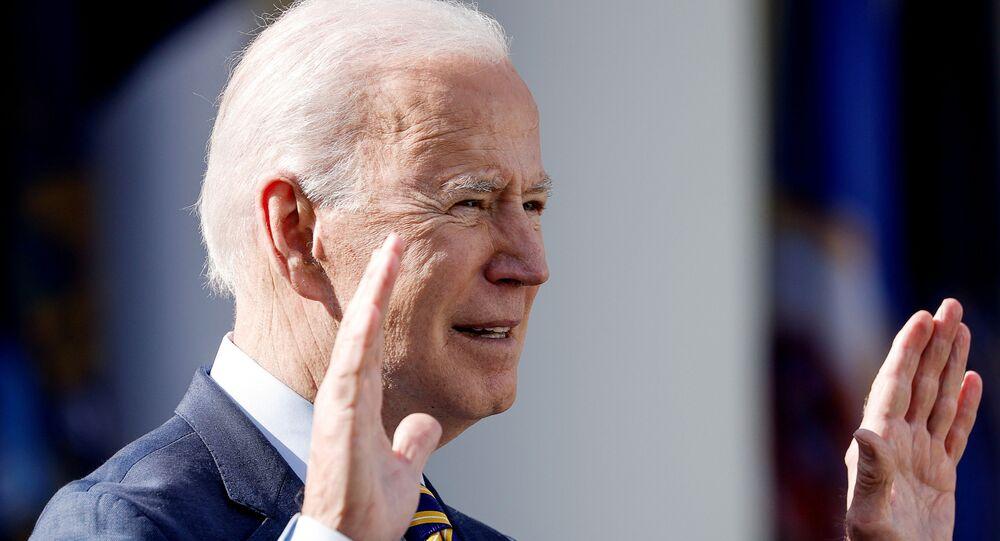 O presidente Joe Biden fala sobre durante um evento na Casa Branca em Washington, EUA, 12 de março de 2021