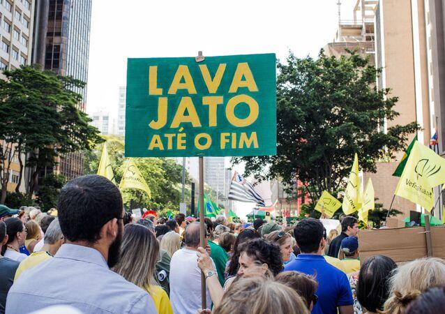 Manifestação a favor da Lava Jato na avenida Paulista