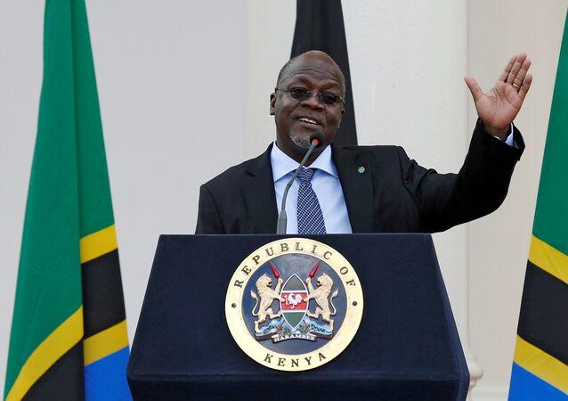 John Magufuli, ex-presidente da Tanzânia, que morreu no dia 17 de março de 2021.