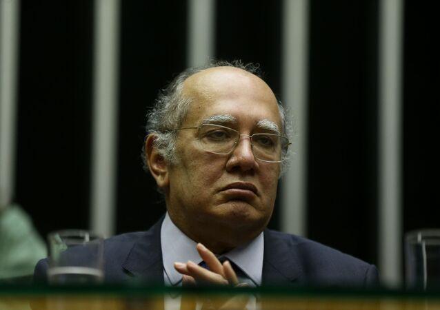 Em Brasília, o ministro do Supremo Tribunal Federal (STF) Gilmar Mendes participa de sessão solene na Câmara dos Deputados, em 1º de outubro de 2019