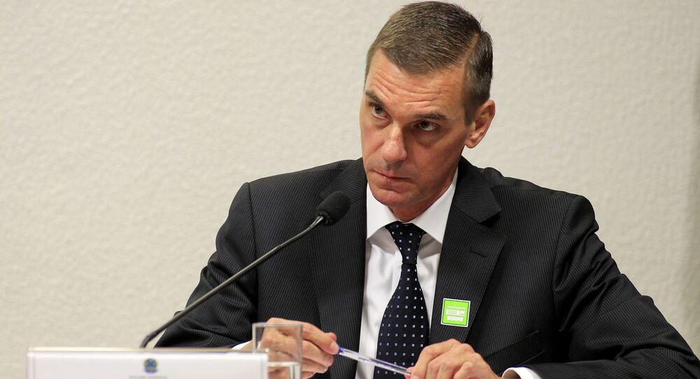 André Brandão participa de sessão no Senado Federal.