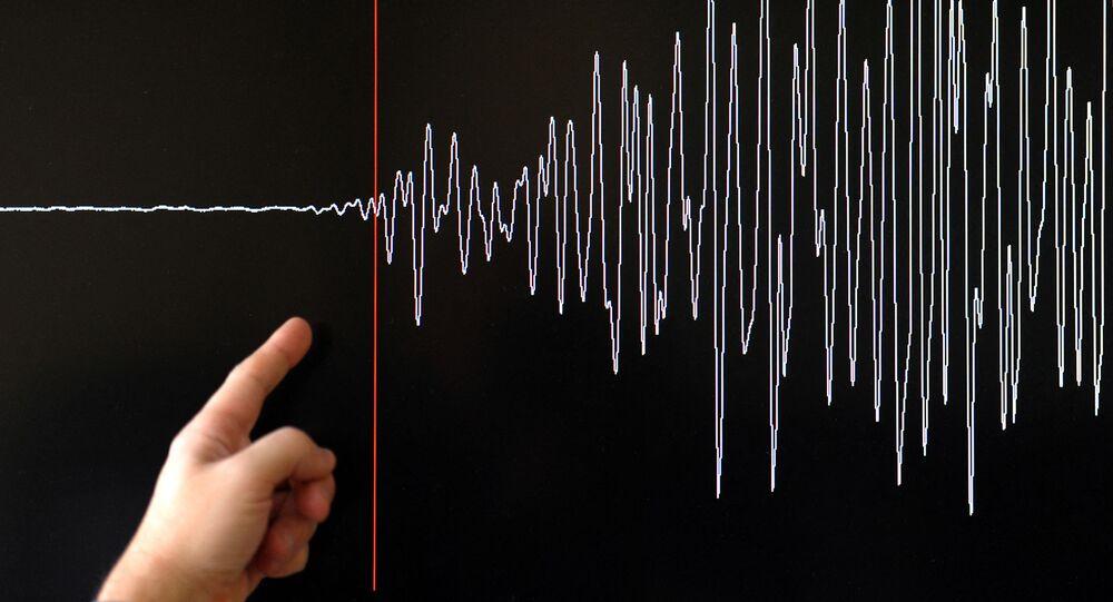 Diagrama de sismógrafo de terremoto