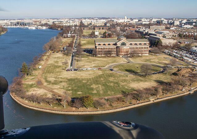 Vista aérea da base do Exército dos EUA Forte Lesley J. McNair