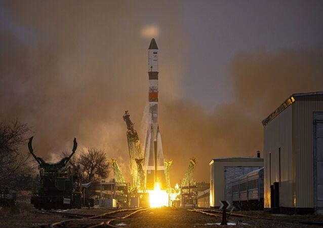 Lançamento do foguete Soyuz-2.1a (foto de arquivo)