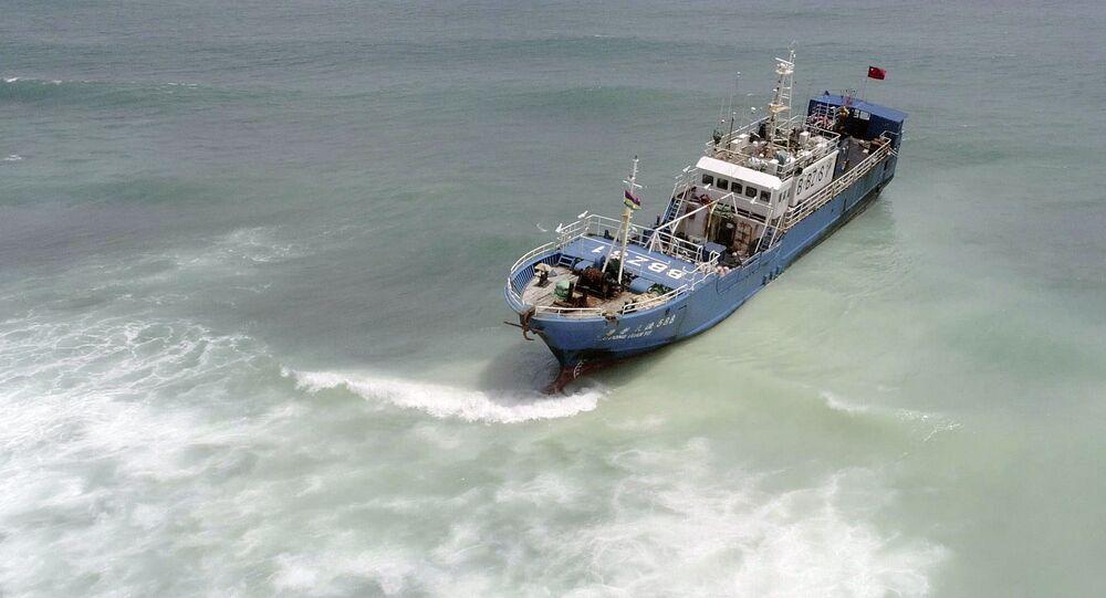 Barco de pesca chinês, 8 de março de 2020