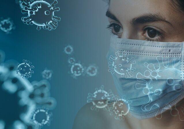 Imagem ilustrativa sobre o vírus SARS-CoV-2