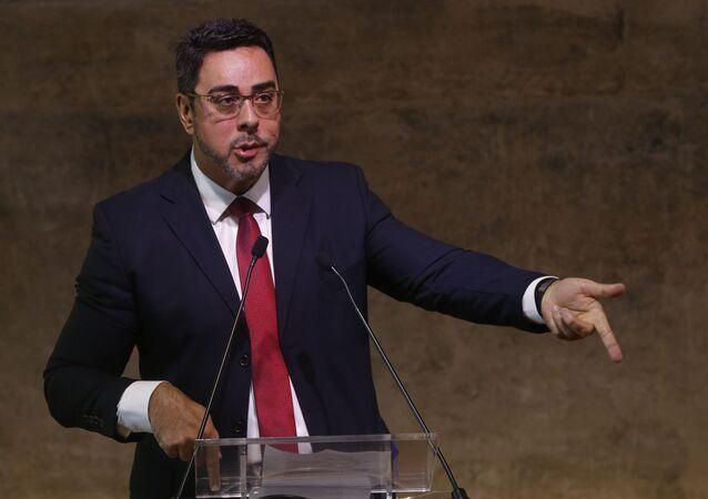 O juiz Federal titular da 7ª Vara Federal Criminal do Rio de Janeiro, Marcelo Bretas, durante palestra.