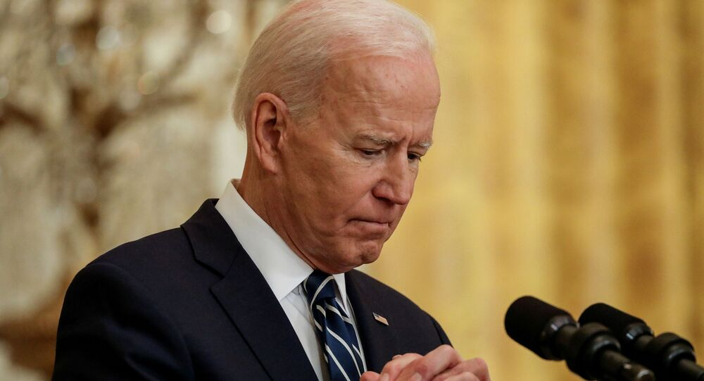 Presidente dos EUA, Joe Biden, concede a primeira conferência de imprensa de seu mandato na Casa Branca, Washington, EUA, 25 de março de 2021