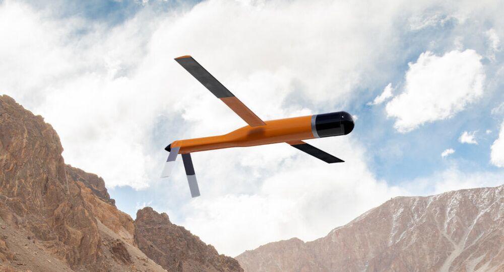 O drone Morfius apresentado em vôo (imagem referencial)