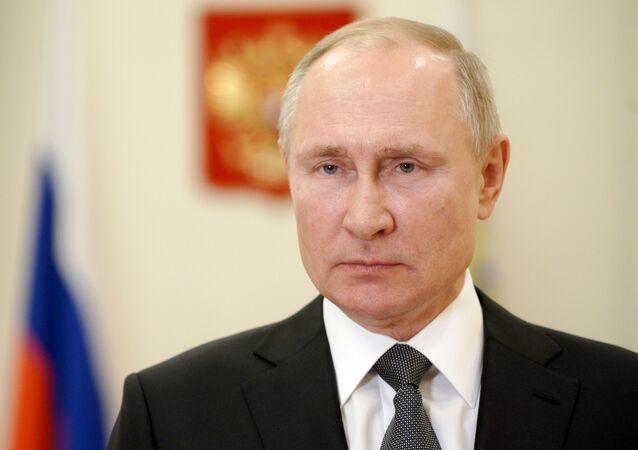 Vladimir Putin, presidente da Rússia, em 27 de fevereiro de 2021