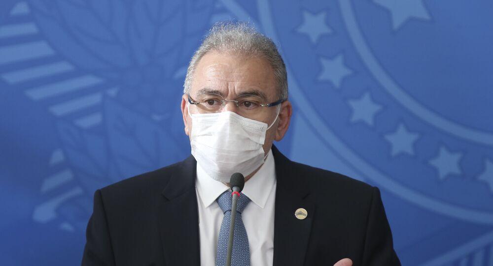 O novo ministro da Saúde de Jair Bolsonaro, Marcelo Queiroga, no dia 23 de março de 2021