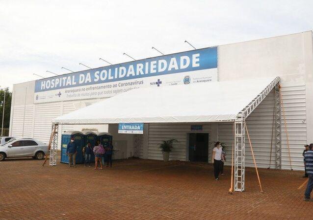Hospital da Solidariedade, em Araraquara, interior de São Paulo, SP