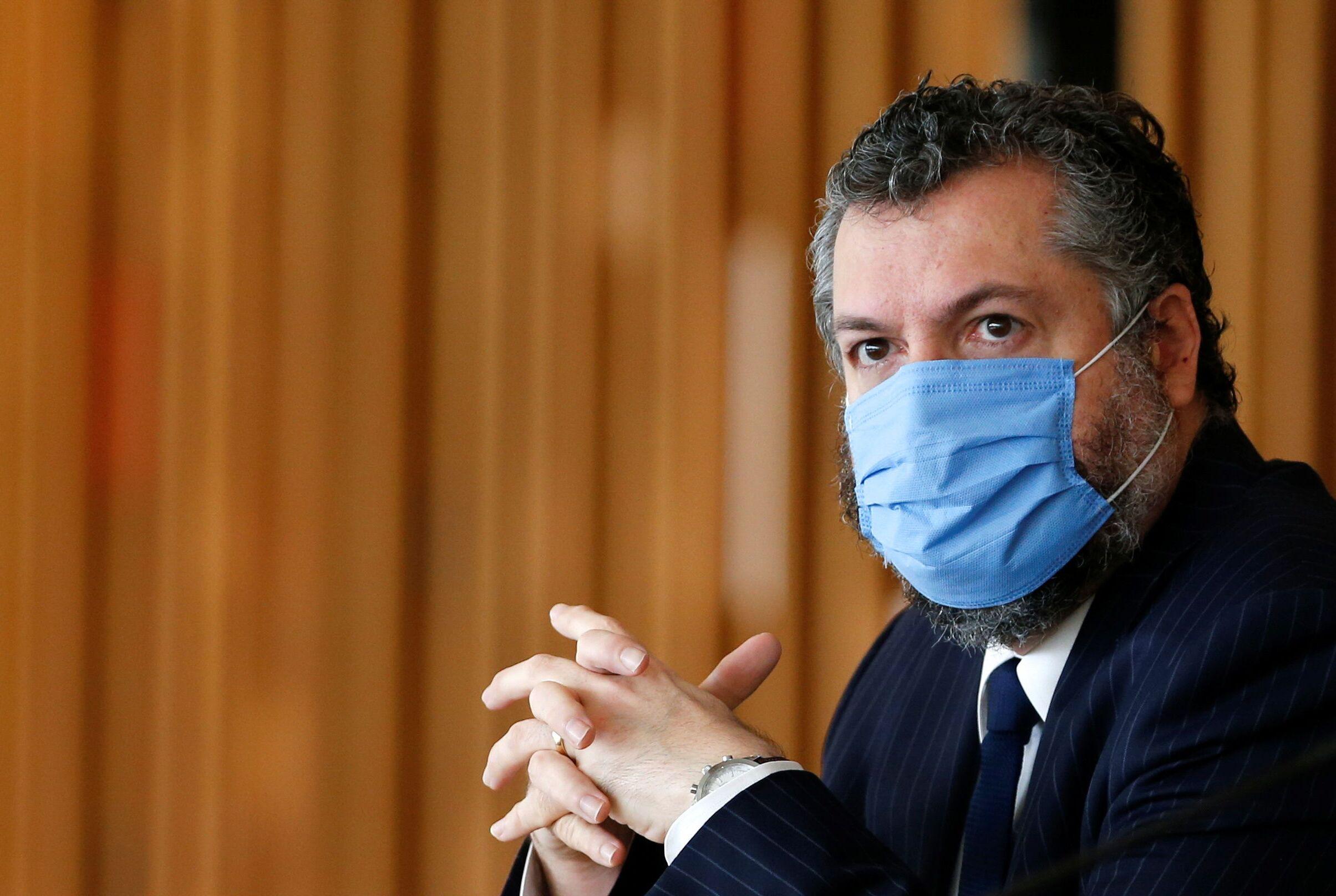 Ex-ministro das Relações Exteriores, Ernesto Araújo, no dia 10 de outubro de 2019