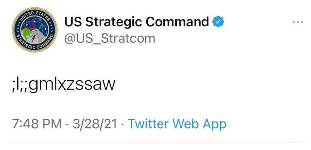 Comando Estratégico dos EUA posta mensagem ininteligível