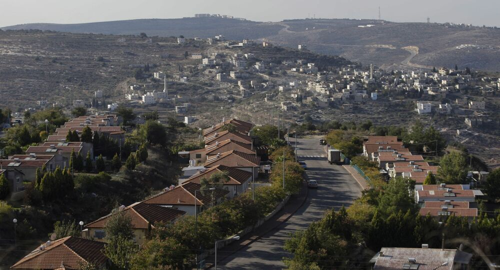 Assentamento judaico de Eli, perto da vila de Qariout, na Cisjordânia, um dos muitos assentamentos israelenses em território palestino (foto de arquivo)