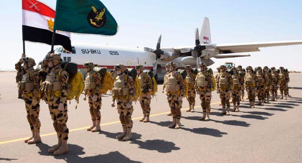 Forças Aéreas egípcias e sudanesas durante o exercício aéreo conjunto, 31 de março de 2021