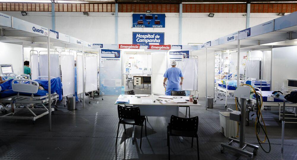 Unidade de Terapia Intensiva (UTI) em Ribeirão Pires, no interior de São Paulo.