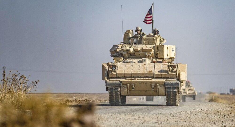 Comboio dos EUA patrulha na província de Hasakah, no nordeste da Síria (foto de arquivo)