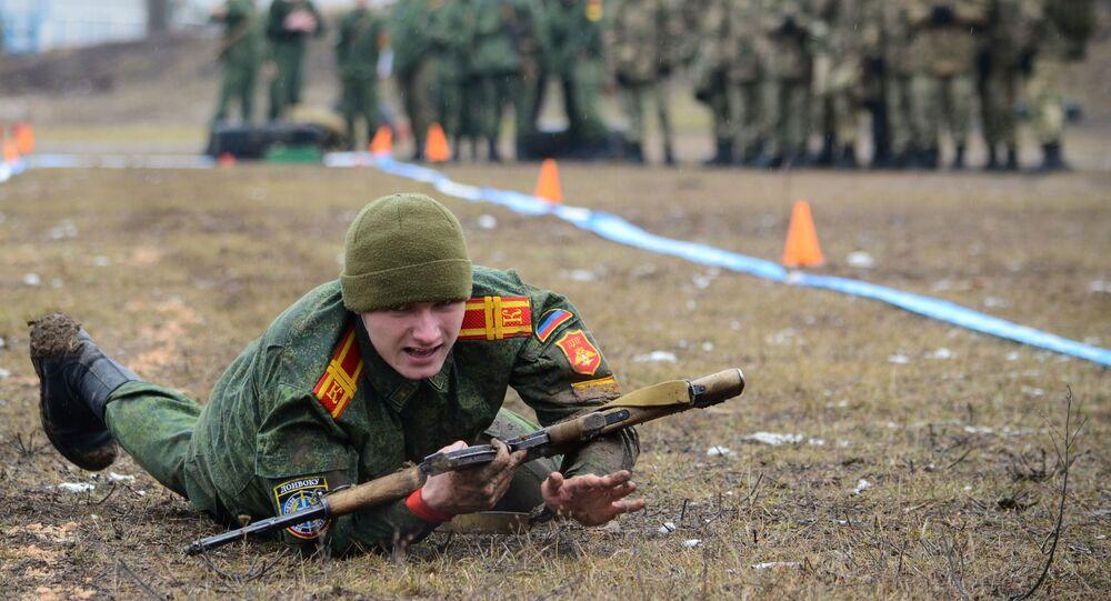 Competição de treinamento militar em Donetsk