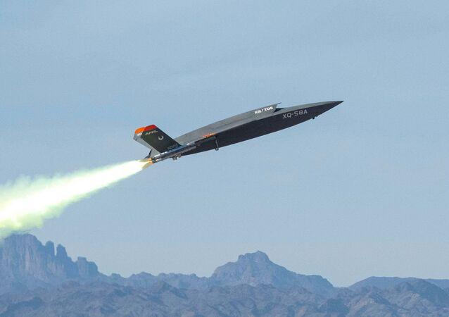Demonstrador do veículo aéreo não tripulado da Força Aérea dos EUA, XQ-58A Valkyrie