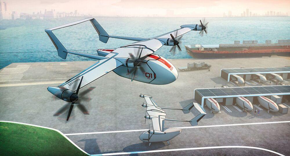 Conceito de avião modular FLEXCRAFT da Embraer