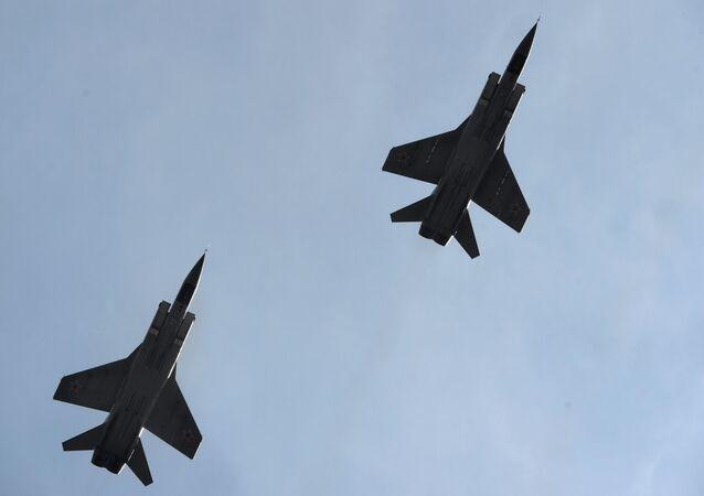 Caças MiG-31 da Rússia (foto de arquivo)