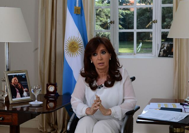 A vice-presidente da Argentina, Cristina Kirchner, em Buenos Aires, no dia 15 de março de 2016