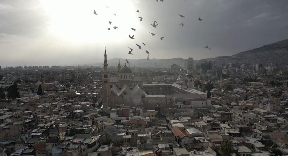 Cidade Velha de Damasco, capital da Síria, em foto de 22 de março de 2021