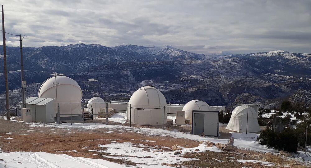 Estação de rastreamento de satélites da Numerica na Espanha